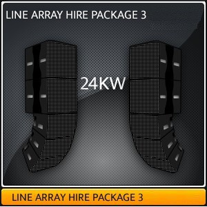 LINE ARRAY HIRE PACKAGE