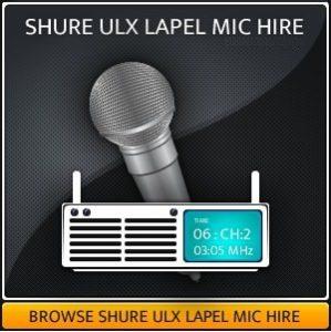 SHURE ULX MIC HIRE